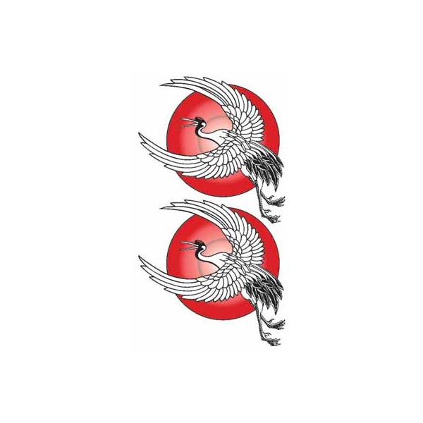 Tattoo Sticker Red Crowned Crane Tattoo Seal Body Face Tatoo Illustrated Tattoo Fake Post Was Right