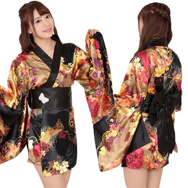コスプレ衣装 着物 浴衣 花魁 おいらん ミニ着物 ミニ浴衣 ゆかた ミニ kimono コスプレ衣装 コスチューム レディース 着物ドレス