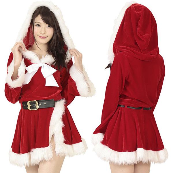 初雪サンタのプレゼント コスプレ クリスマス サンタ サンタコス サンタクロース セクシー 大人 コスチューム キャバ ギャル 衣装 可愛い パーティー イベント 仮装