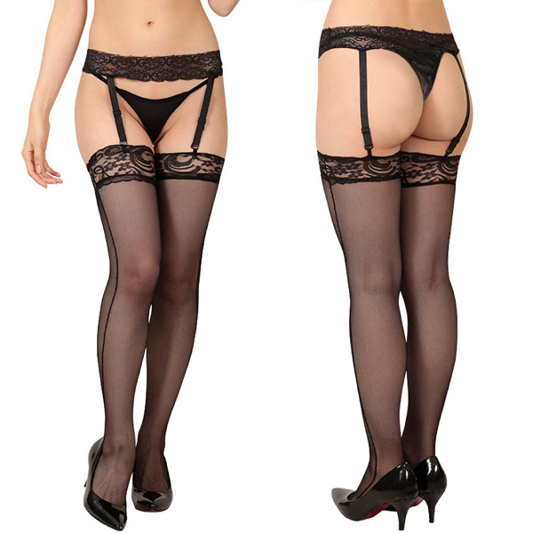 Lady up fishnet tights garter belts tights pantyhose lace stockings for sexy women