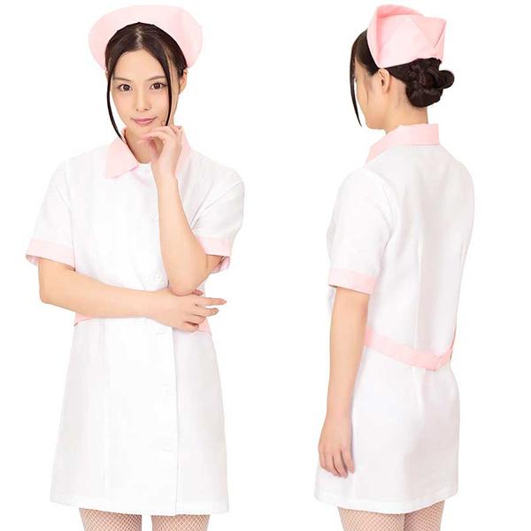 ホワイトパステルピュアナース コスプレ ナース 看護師 看護婦 白衣 医者 女医 制服 セクシー 大人 コスチューム キャバ ギャル 衣装 可愛い ハロウィン イベント 仮装