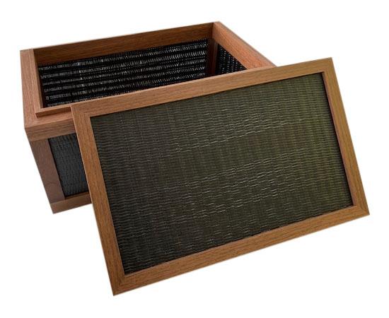 【在庫限り】ストレージBOX/D/黒/竹かご/小物入れ 国産/収納箱