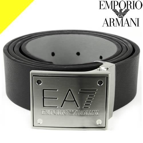 2021年春夏新作 EMPORIO ARMANI エンポリオ アルマーニ ベルト エンポリオアルマーニ メンズ リバーシブル カジュアル 輸入 大きいサイズ 70%OFFアウトレット ブランド EA7 245376 245524 8A693 ブラック 黒
