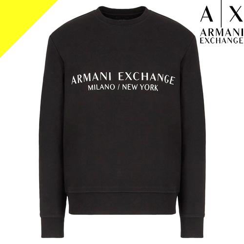アルマーニエクスチェンジ ARMANI EXCHANGE セーター ニット メンズ ブランド 長袖 クルーネック ロゴ 大きいサイズ 黒 白 ブラック ホワイト 3HZM1F ZMU6Z 1100 1200