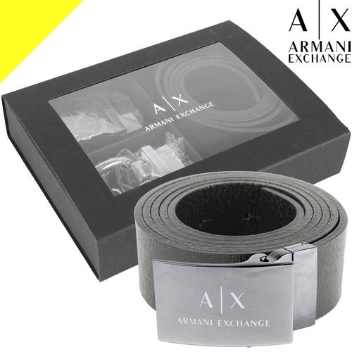 アルマーニエクスチェンジ ベルト バックル2種セット メンズ ブランド 黒 ブラック ARMANI EXCHANGE 951250 CC797