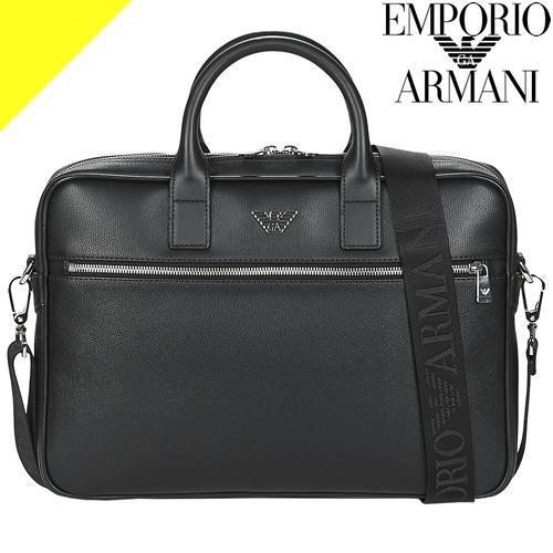エンポリオアルマーニ バッグ サッチェルバッグ 2way ブリーフケース ビジネスバッグ メンズ ブランド 薄マチ 軽量 通勤バッグ 黒 ブラック EMPORIO ARMANI Satchel Bag Y4P119 YLA0E