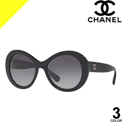 シャネル サングラス レディース メンズ ブランド UVカット おしゃれ 薄い 色 紫外線対策 オーバル 伊達メガネ 黒 ブラック ベージュ CHANEL 5372A 1601/3D 1498/S5 501/S6