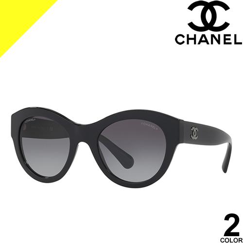 シャネル サングラス レディース メンズ ブランド UVカット おしゃれ 薄い 色 紫外線対策 オーバル 伊達メガネ 黒 ブラック ベージュ CHANEL 5371A 1416/3D 501/S6