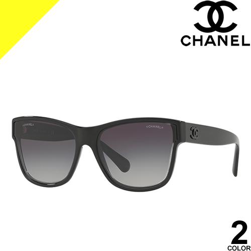 シャネル サングラス レディース メンズ ブランド UVカット おしゃれ 薄い 色 紫外線対策 ウェリントン 伊達メガネ 黒 ブラック CHANEL 5386A 714/S5 1191/S6