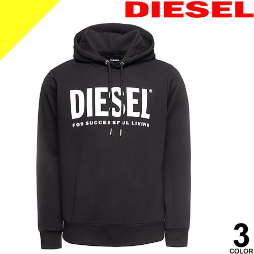 ディーゼル パーカー スウェット メンズ プルオーバー 長袖 ブランド 大きいサイズ プリント ロゴ 黒 白 ブラック ホワイト DIESEL S-GIR-HOOD-DIVISION 00SAQJ 0BAWT 100 912 900