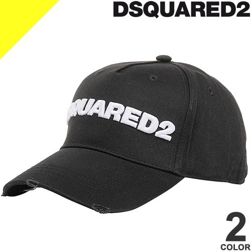 2021年春夏新作 DSQUARED2 ディースクエアード ベースボールキャップ 発売モデル キャップ 帽子 メンズ ロゴ コットン 評判 ブランド Cap 黒 05C00001 BCM0028 大きいサイズ Baseball ブラック
