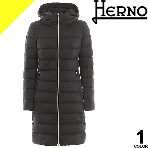 ヘルノ HERNO ダウン ダウンジャケット ダウンコート レディース アウター ロング 大きいサイズ 通勤 防寒 軽量 黒 ブラック きれいめ 冬 PI0850D 19288