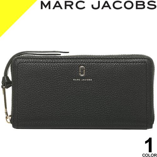 マークジェイコブス 財布 長財布 レディース ブランド ラウンドファスナー 本革 革 黒 ブラック MARC JACOBS The Softshot Standard Continental Wallet M0015119 001