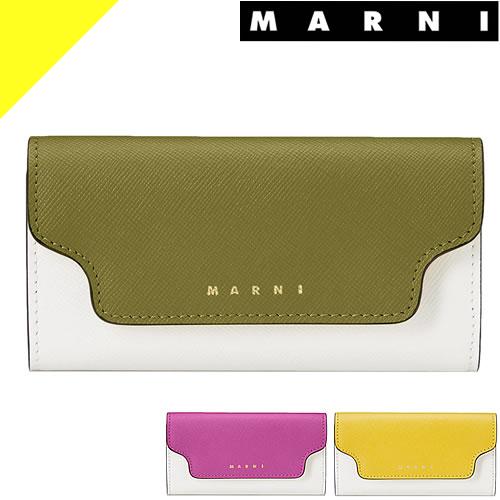 マルニ 財布 二つ折り財布 レディース サフィアーノ バイカラー レザー ブランド ミニ財布 豆財布 MARNI PFMOQ14U13 LV520 Z273I