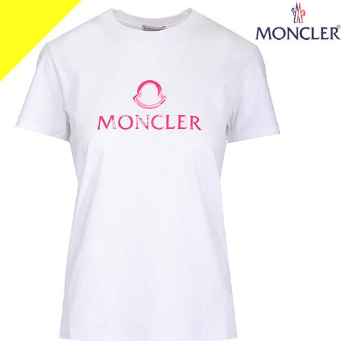 モンクレール ポロシャツ レディース ブランド 鹿の子 半袖 かわいい 白 ホワイト MONCLER 8386000 84667 034 [ネコポス発送]