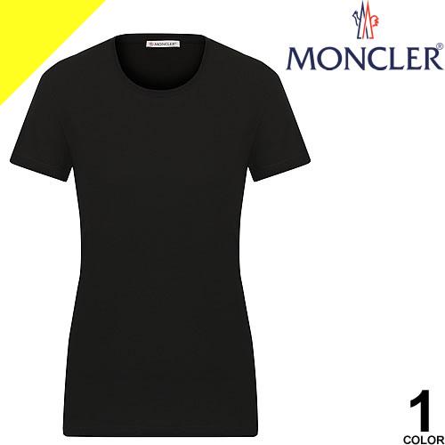 モンクレール Tシャツ レディース ブランド カットソー クルーネック ロゴ カジュアル 大きいサイズ 黒 ブラック MONCLER 8C73200 V8058 999 [ネコポス発送]