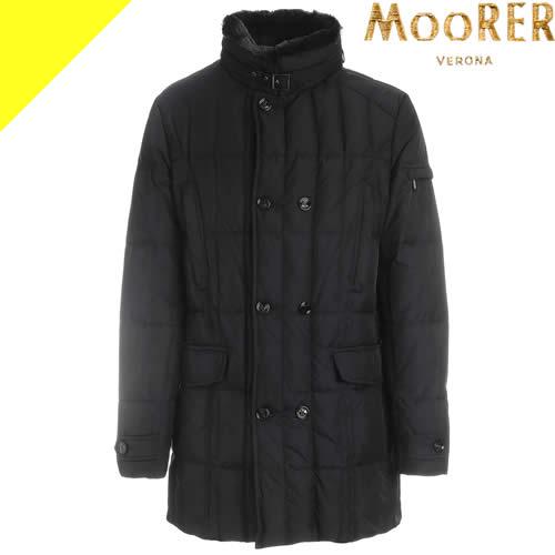 ムーレー ダウン ダウンジャケット メンズ モーリス モリス MORRIS KM2 アウター ブランド 大きいサイズ 細身 防寒着 キルティング ビジネス 黒 ブラック MooRER