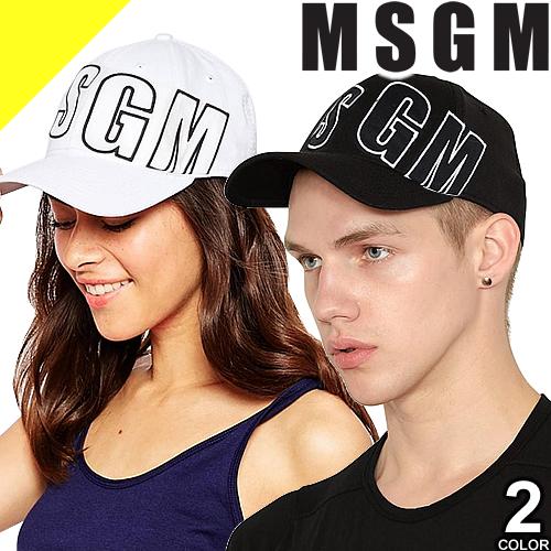 [定価18,360円→11,998円] エムエスジーエム キャップ 帽子 メンズ レディース ロゴ 無地 ブラック ホワイト 黒 白 カジュアル おしゃれBASEBALL HAT WITH MSGM EMBROIDERY 2640ML09 195084