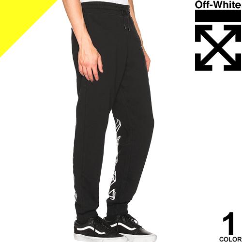 オフホワイト OFF-WHITE スウェット パンツ メンズ ブランド 大きいサイズ 黒 ブラック MARKER ARROWS SWEATPANTS