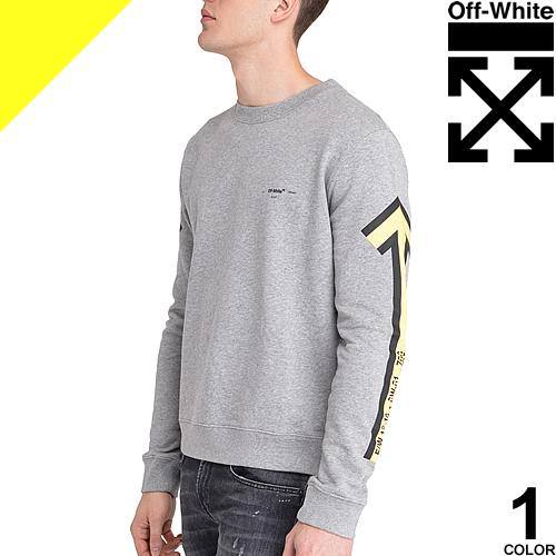 オフホワイト OFF-WHITE トレーナー スウェット メンズ ブランド 大きいサイズ グレー GREY ARROWS CREWNECK