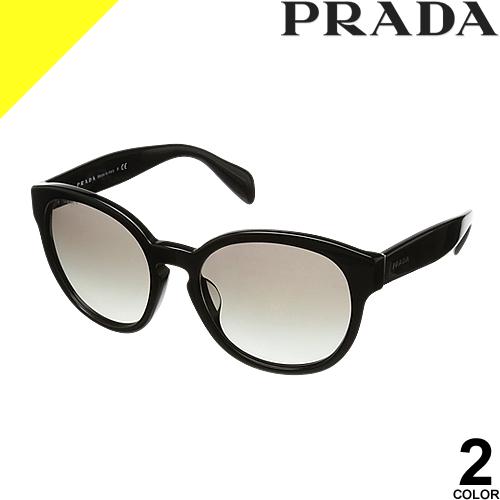 プラダ サングラス レディース メンズ ブランド 丸 UVカット 薄い 色 紫外線対策 ラウンド PRADA 18RSF 2AU3D0 1AB07