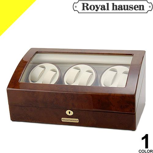 [定価48,600円→33,799円] Royal hausen ロイヤルハウゼン ワインディングマシン 7本 時計 自動巻き ウォッチワインダー ワインディングマシーン 6本巻 収納 ケース ディスプレイ インテリア GC03-T31