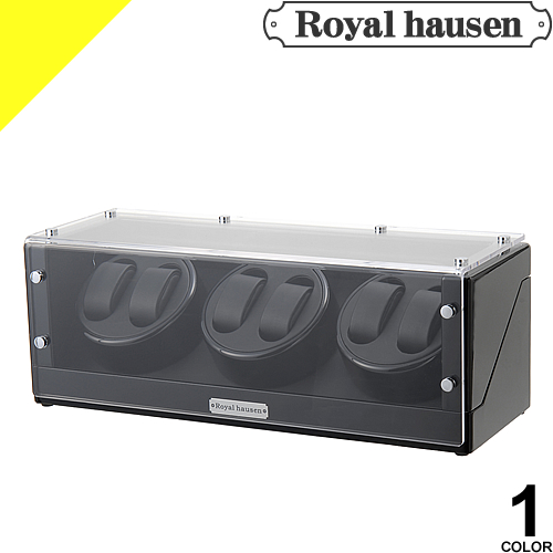 [定価43,200円→29,899円] Royal hausen ロイヤルハウゼン ワインディングマシン 6本 時計 自動巻き ウォッチワインダー ワインディングマシーン 6本巻 収納 ケース ディスプレイ インテリア GC03-T102BB