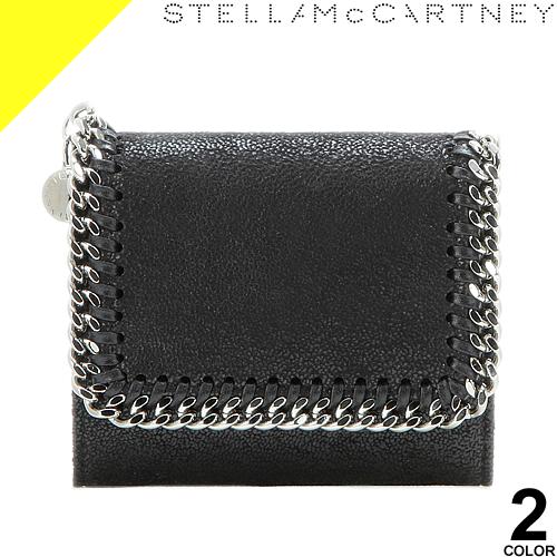ステラマッカートニー ファラベラ 財布 三つ折り財布 ミニ財布 レディース コンパクト ブランド 薄い 黒 ブラック グレー Stella McCartne Falabella Small Flap Wallet 431000 W9132