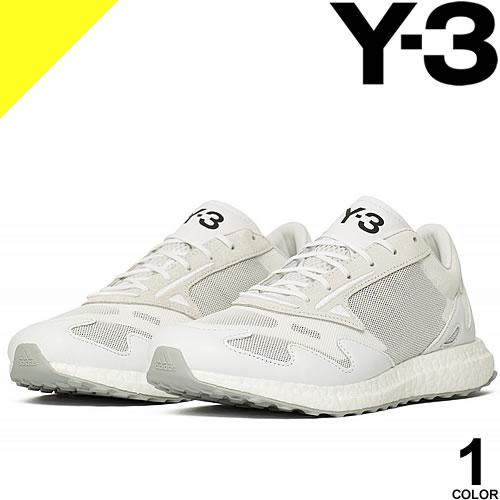 ワイスリー Y-3 ヨウジヤマモト adidas スニーカー リシュー ラン RHISU RUN FU8505 メンズ レースアップ メッシュアッパー レザー 革 ブランド 白 ホワイト