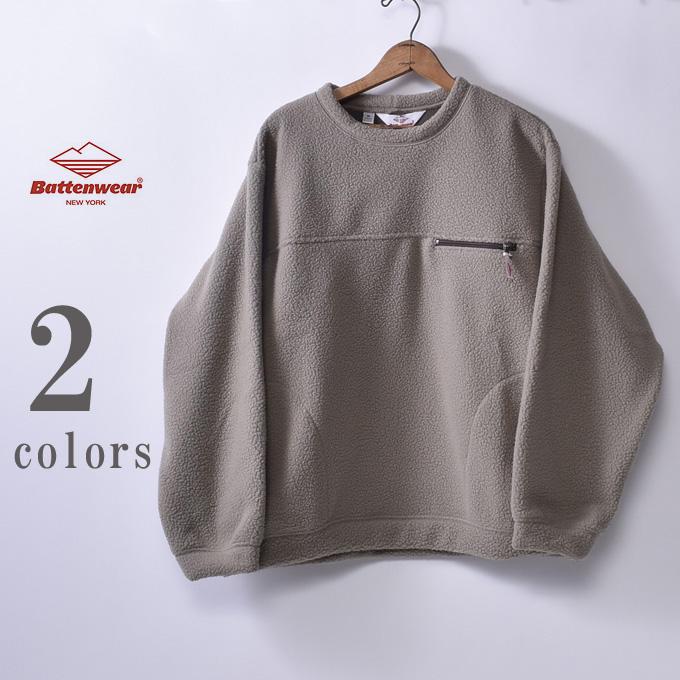 【Battenwear】バテンウェアLodge Crewneck ロッジクルーネックフリース全2色(Beige・Chacoal)