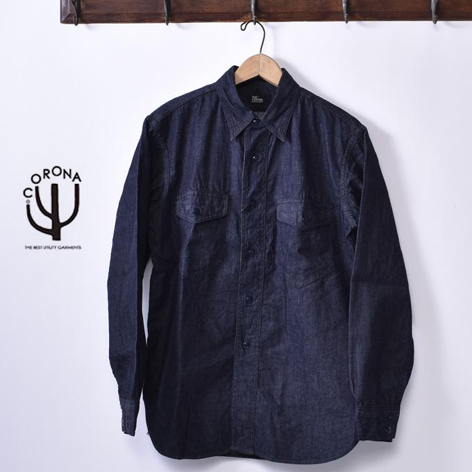 【CORONA】コロナUS NAVY 2 POCKET SHIRT(#CS002)USネイビー 2ポケットシャツ6オンス デニム