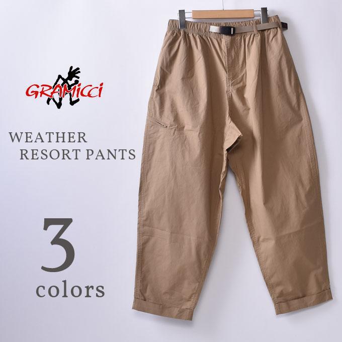 【GRAMICCI】グラミチWEATHER RESORT PANTS(GMP-20S020)ウェザーリゾートパンツ全3色(SAND・DEEP OLIVE・BLACK)z10x