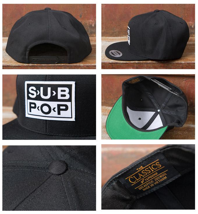 f42cd391644 cott  Sub SUB POP PATCH SNAP BACK CAP snap back Cap BLACK black ...