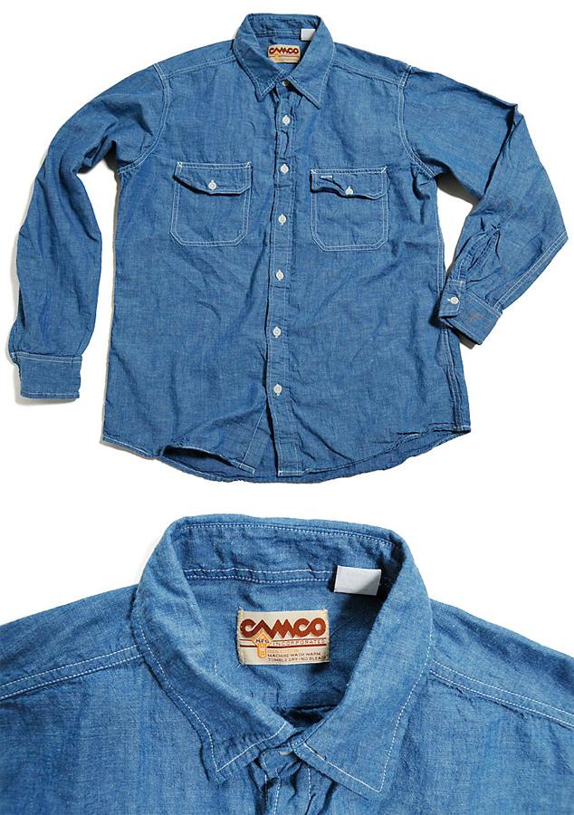 비디오 CHAMBRAY SHIRT シャンブレーシャツ 블루