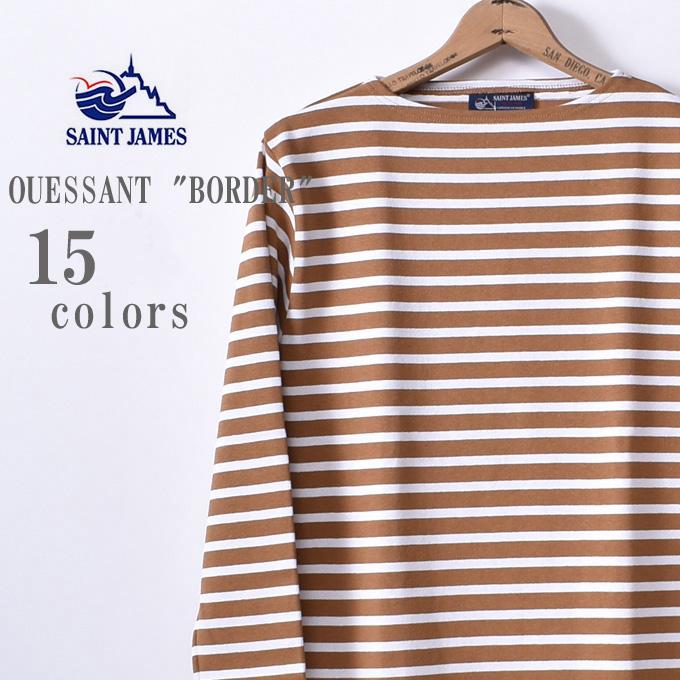 2019春夏モデル 国内正規品【SAINT JAMES】セントジェームスOUESSANT(ウエッソン)BORDER ボーダー長袖Tシャツ全15色z5x