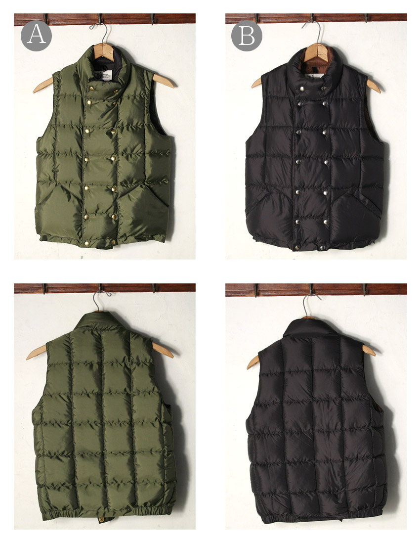 ★50%OFF SALE!MADE IN USA【CRESCENT DOWN WORKS】クレセント ダウン ワークスDouble Button Vest ダブルボタンベスト(ダウンベスト)全2色