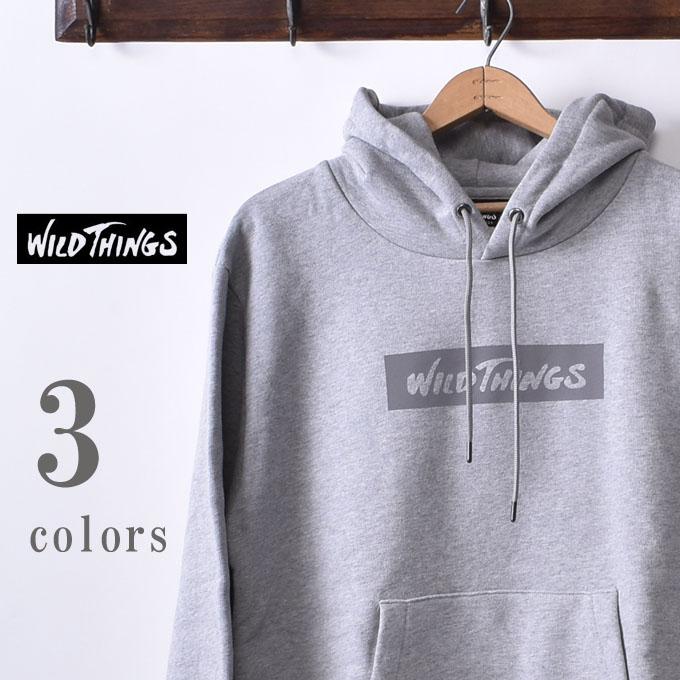 【WILDTHINGS】ワイルドシングスBOX REF HOODY(WT19142N)ボックスレフフーディー スウェットパーカー全3色z10x