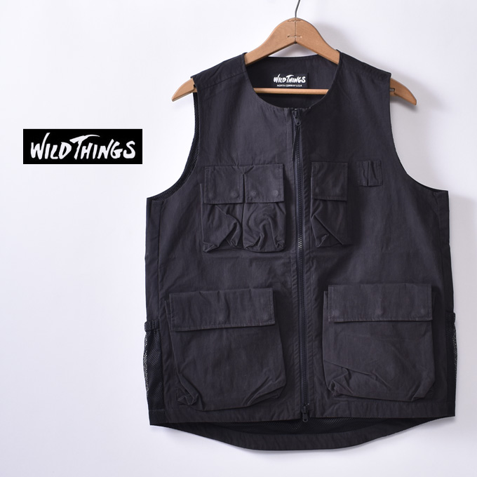 【WILDTHINGS】ワイルドシングスCOMBAT VEST(WT20012SN)コンバットベストBLACK ブラックz10x