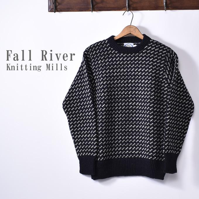 ★40%OFF SALE!【Fall River Knitting Mills】フォールリバーニッティングミルズNorwegian Crew Neck Sweaterノルウェージャン クルーネックセーターNavy ネイビー