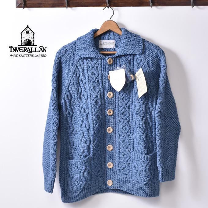 正規品【INVERALLAN】インバーアラン3A Lumber Cardigan(ランバーカーディガン)Cotton コットン セーター ニットLIGHT INDIGO ライトインディゴ