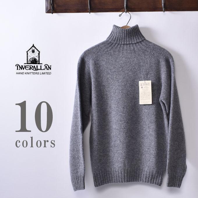 【INVERALLAN】インバーアランROLL NECK SHETLAND SWEATERロールネック シェットランドセーター ニット全10色《S-50》