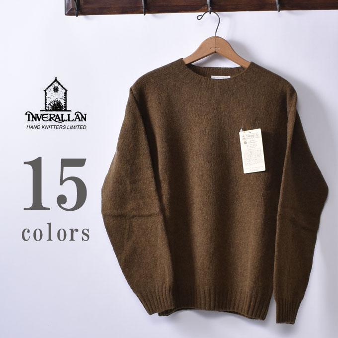 【INVERALLAN】インバーアランCREW NECK SHETLAND SWEATERクルーネック シェットランドセーター ニット全15色《S-50》