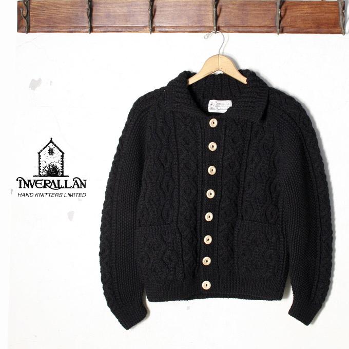 正規品【INVERALLAN】インバーアラン3A Lumber Cardigan(ランバーカーディガン)セーター ニットBLACK ブラック