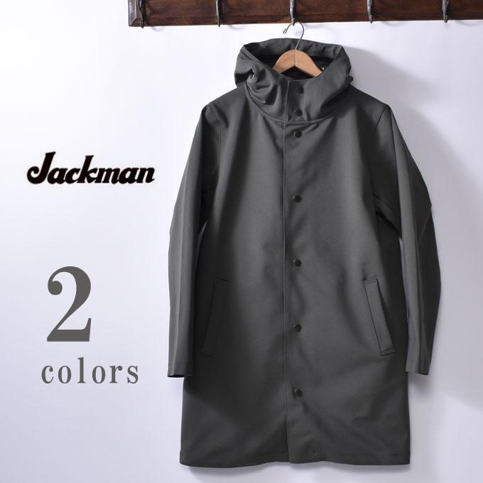 【Jackman】ジャックマンJM8603 Jersey Coatジャージ コート全2色(Ash Khaki・Dark Navy)z10x