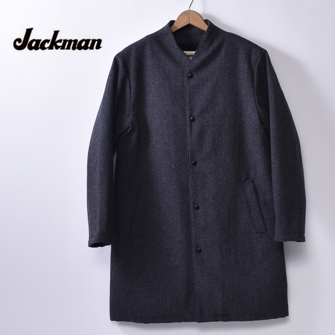 【Jackman】ジャックマンJM8989 Award CoatアワードコートCharcoal チャコールz10x