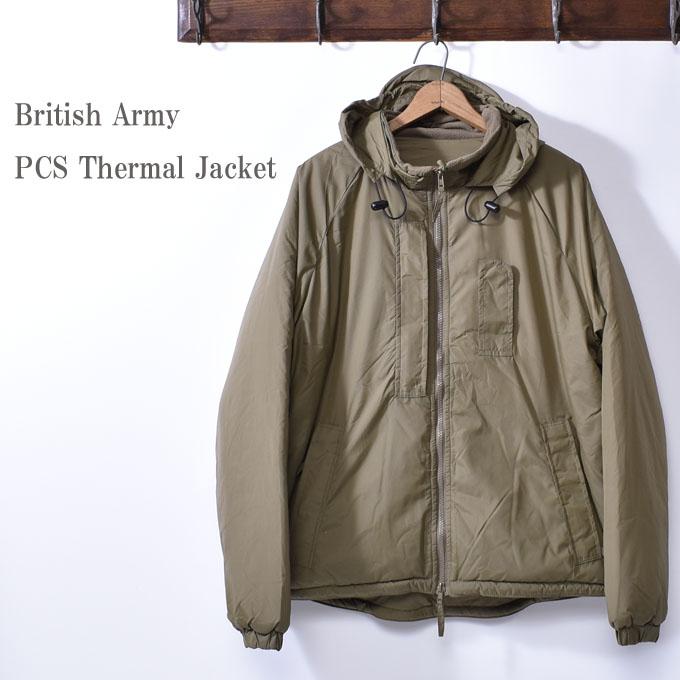 デッドストックBritish Army イギリス軍PCS Thermal Jacket サーマルジャケットStuff Bag ブロードアロー刻印コヨーテ