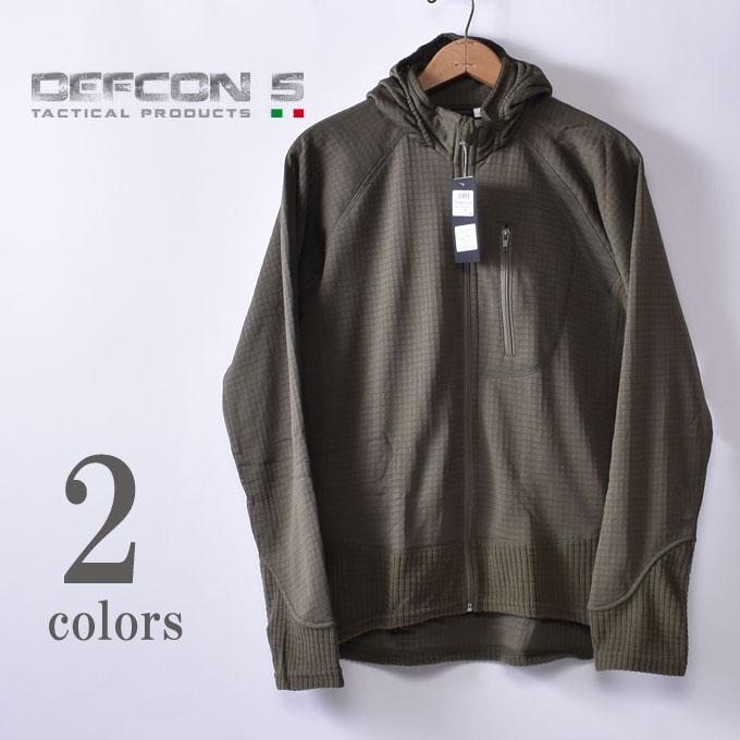 【DEFCON 5】デフコンチンクエD5-BR101B COMBAT FLEECE JACKET FULL ZIP WITH HOODコンバット フリースジャケット フルジップ フード付き全2色(Olive・Black)