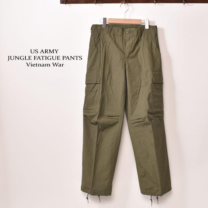 デッドストックベトナム戦争US ARMYアメリカ軍 JUNGLE FATIGUE PANTS軍パン カーゴパンツリップストップ