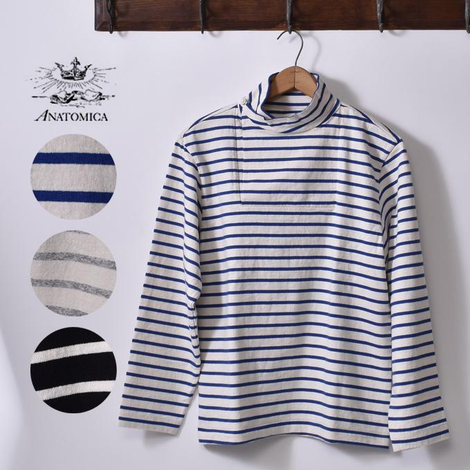 正規販売店Made in Japan【ANATOMICA】アナトミカMARNIER SHAWL COLLAR TEE LONGSLEEVEマルニエ ショールカラーTシャツ全3色