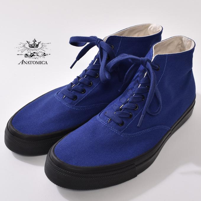 【ANATOMICA】アナトミカWAKOUWA ワクワDECK SHOES HIGH デッキシューズ ハイINTERNATIONAL KLEIN BLUE/BLACK ブルー/ブラック